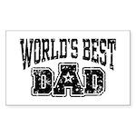 World's Best Dad Sticker (Rectangle)