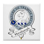 Horsburgh Clan Badge Tile Coaster