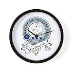 Horsburgh Clan Badge Wall Clock