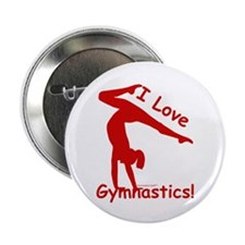 Gymnastics Buttons (10) - Love