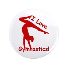 Gymnastics Buttons (100) - Love