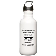 Mustaches Water Bottle