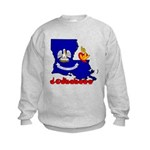 ILY Louisiana Kids Sweatshirt