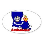 ILY Louisiana Sticker (Oval)