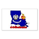 ILY Louisiana Sticker (Rectangle 10 pk)