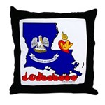 ILY Louisiana Throw Pillow