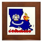 ILY Louisiana Framed Tile