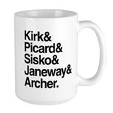 Star Trek Captains Mug