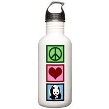 Peace Love Pandas Sports Water Bottle