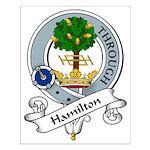 Hamilton Clan Badge Small Poster