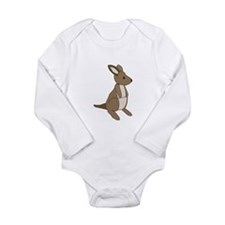 kangaroo Long Sleeve Infant Bodysuit