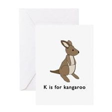 k is for kangaroo Greeting Card