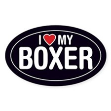 I Love (Heart) My Boxer Decal