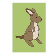 kangaroo (green) Postcards (Package of 8)