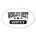 World's Best Wifey Sticker (Oval)