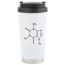 Caffeine Chemistry Ceramic Travel Mug