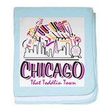Chicago That Toddlin Town baby blanket