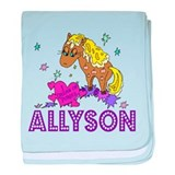 I Dream Of Ponies Allyson baby blanket