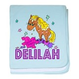 I Dream Of Ponies Delilah baby blanket