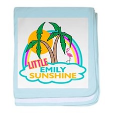 Island Girl Emily Personalize baby blanket