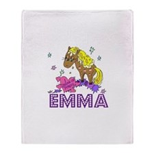I Dream Of Ponies Emma Throw Blanket