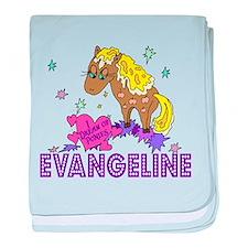 I Dream Of Ponies Evangeline baby blanket