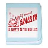 Nice List Gracelyn Christmas baby blanket