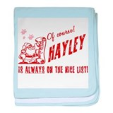 Nice List Hayley Christmas baby blanket
