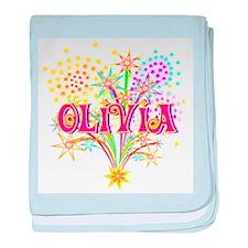 Sparkle Celebration Olivia baby blanket