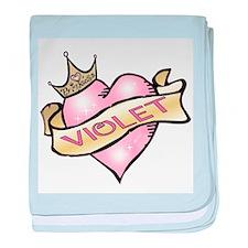 Sweetheart Violet Custom Prin baby blanket