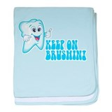Keep On Brushing - Dental baby blanket