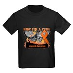 Leukemia Ride For a Cure Kids Dark T-Shirt