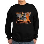 Leukemia Ride For a Cure Sweatshirt (dark)