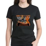 Leukemia Ride For a Cure Women's Dark T-Shirt