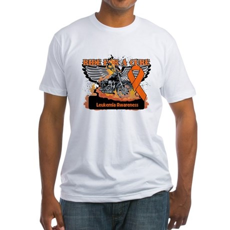 Leukemia Ride For a Cure Fitted T-Shirt