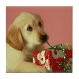 GOLDEN RETRIEVER PUPPY GIFT Tile Coaster