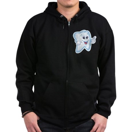 Healthy Happy Tooth Zip Hoodie (dark)