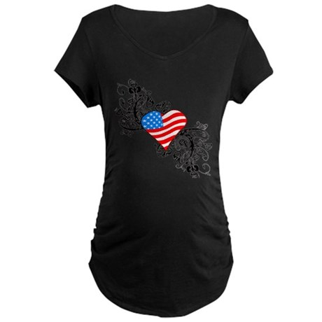 4th Of July / Independence Da Maternity Dark T-Shi