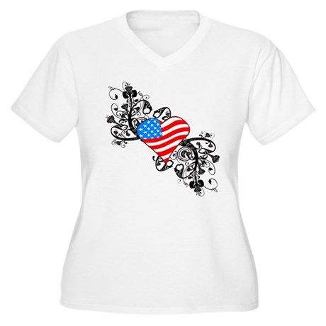 4th Of July / Independence Da Women's Plus Size V-