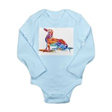 Whimsical Dachshund Fun Long Sleeve Infant Bodysui