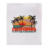 California Sunset Souvenir Throw Blanket