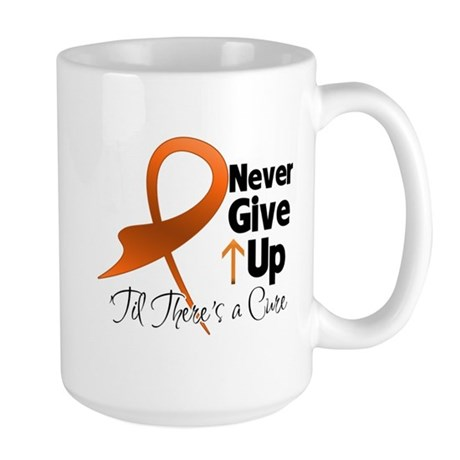 Never Give Up - Leukemia Large Mug