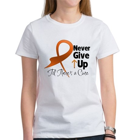 Never Give Up - Leukemia Women's T-Shirt