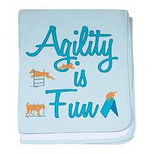 Agility is Fun baby blanket