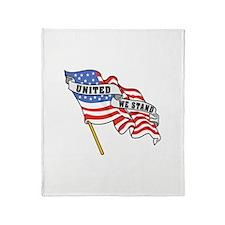 United We Stand Patriotic Throw Blanket