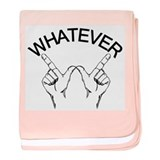 Whatever ... Hand gesture baby blanket