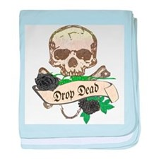 DROP DEAD Anti-Valentine baby blanket