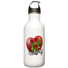 Mom Tattoo Mothers Day Water Bottle
