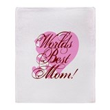 Mother's Day Worlds Best Mom Throw Blanket