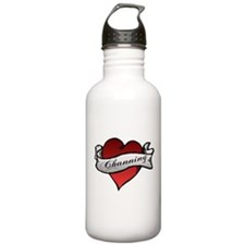Channing Tattoo Heart Water Bottle